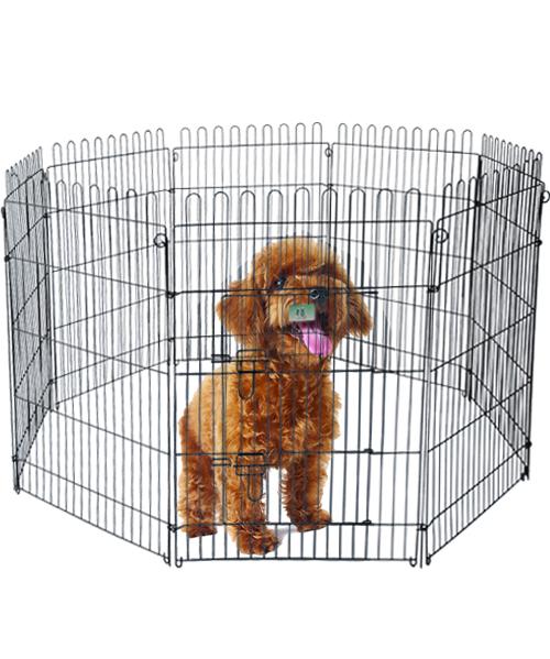 宠物钢丝围栏 YD009(6片)黑